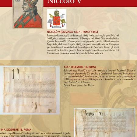 Pannello 05 I rapporti con il papato: Niccolò V