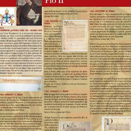 Pannello 06 i rapporti con il papato: Pio II