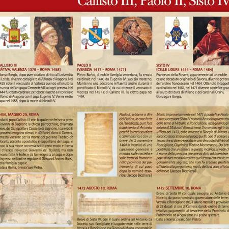 Pannello 07 I rapporti con il papato: Callisto III, Paolo II, Sisto IV