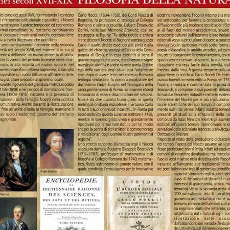 Pannello 11 La famiglia Noceti nei secc. XVII-XIX: Carlo Noceti e la filosofia della natura