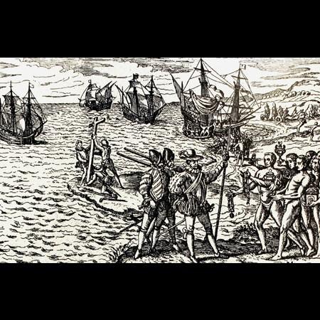 Incisione da un disegno di De Bry