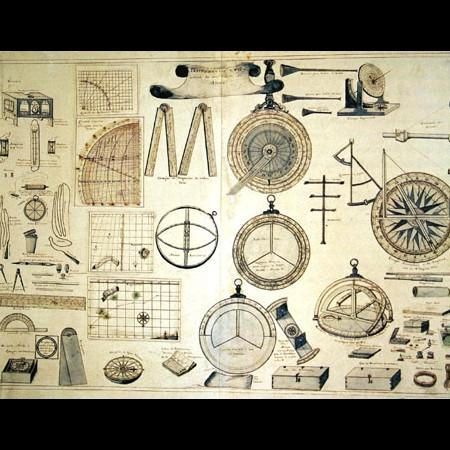 Marqués de la Victoria, Tavola di strumenti per la navigazione