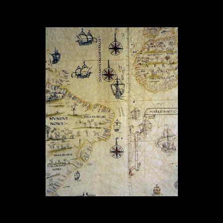 Diego Ribero, Oceano Atlantico, 1529