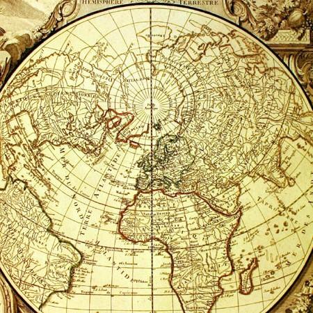 Santini e Remondini, Mappamondo, contenuto in Atlas Universalis,1784