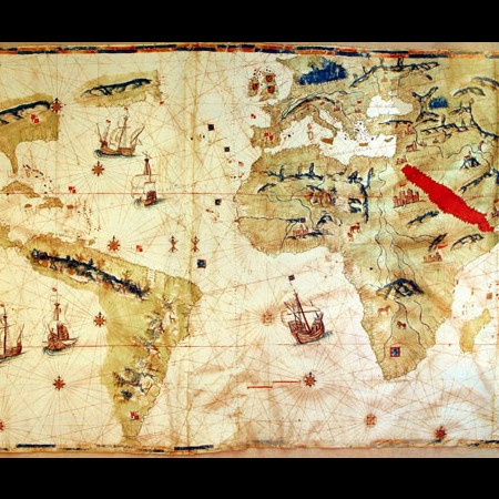 J. Vespucio, Carta universale, 1526