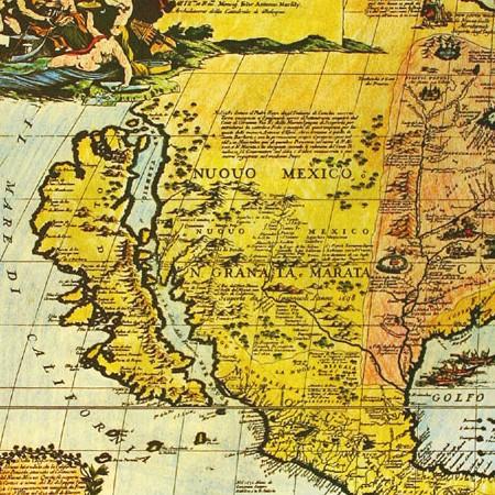 Paolo Coronelli, Carta dell'America Settentrionale, 1696