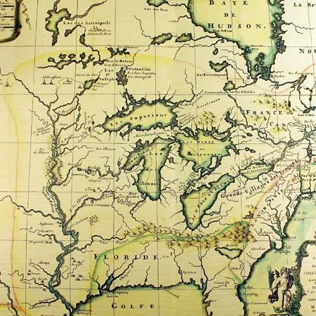 Fernández de Medrano, Carta dell'America Settentrionale, 1699
