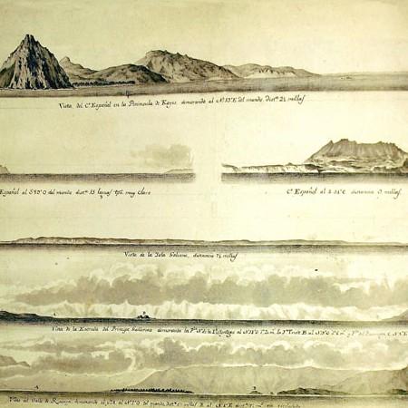 Felipe Bauzá, Vista della costa nord ovest dell' America, seconda metà sec. XVIII
