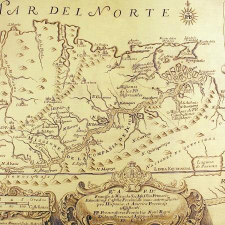 Joseph Gumilla, Carta del nuovo Regno di Granada, contenuta in El Orinoco Ilustrado, 1741