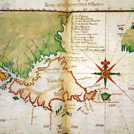 Patagonia e Terra del Fuoco, sec. XVII