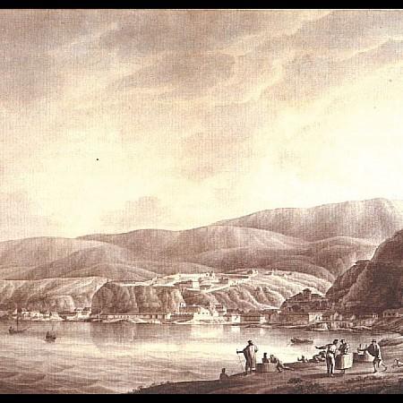 J. del Pozo, La città e il forte di Valparaiso