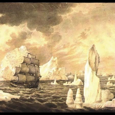 F. Brambilla, La corvetta Atrevida tra i ghiacci