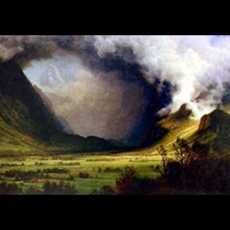 Albert Bierstadt, Temporale sulle montagne, 1870 ca.
