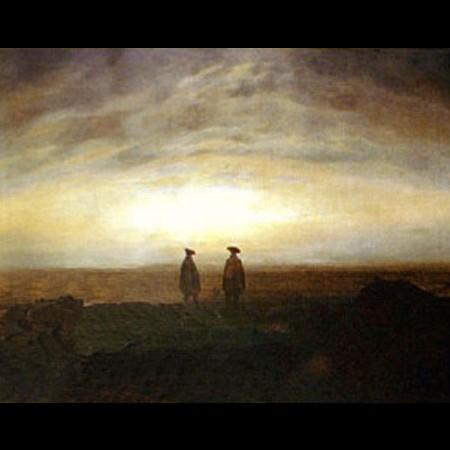 Caspar David Friedrich, Due uomini sulla costa al sorgere della luna, 1817