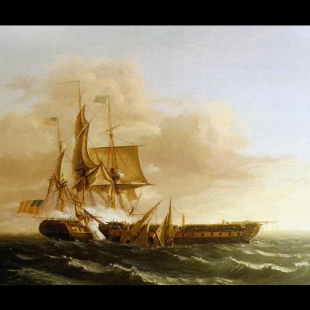 "Thomas Birch, Combattimento tra le navi ""Constitution"" e ""Guerrière"", 1813"