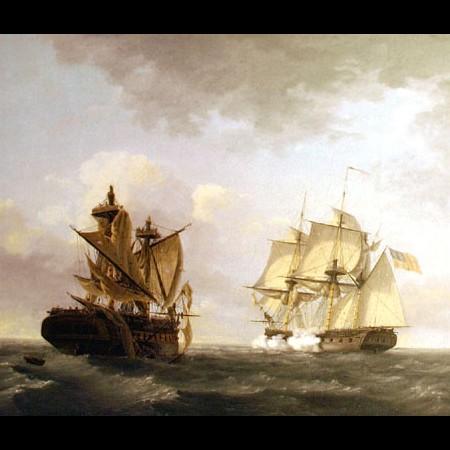 "Thomas Birch, Combattimento tra le navi ""United States"" e ""Macedonian"", 1813"