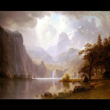 Albert Bierstadt, Tra le montagne, 1867