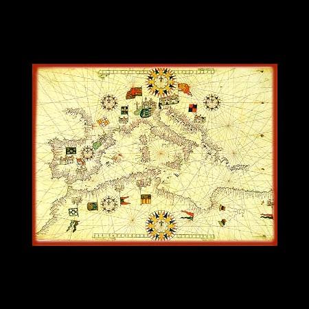 Matteo Prunes Carta Nautica del Mediterraneo (XVI sec.)