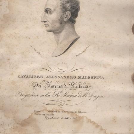 Alessandro Malaspina, incisione di Antonio Dalcò