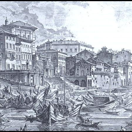 Il Collegio Pio Clementino, ultimo edificio a destra