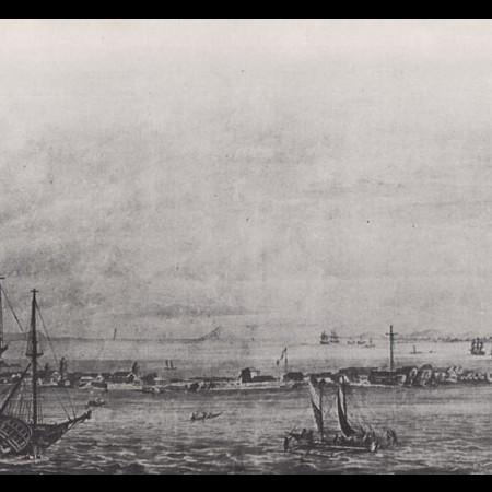 Il porto di Cavite - olio di anonimo, Museo Navale di Madrid