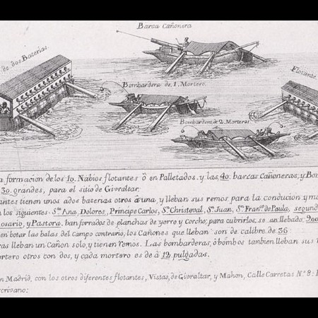 Batterie galleggianti corazzate utilizzate nell'assedio di Gibilterra