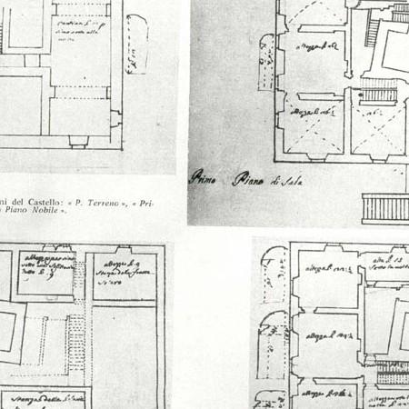 8 - Planimetrie dei quattro piani del castello