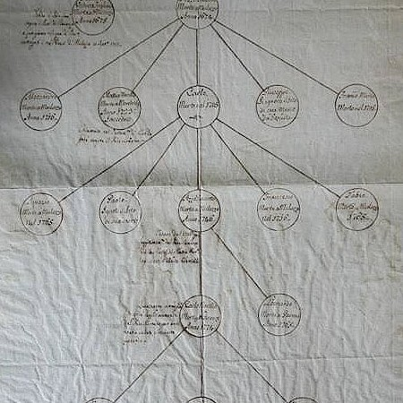 1 - Albero genealogico Manoscritto autografo di Alessandro Malaspina