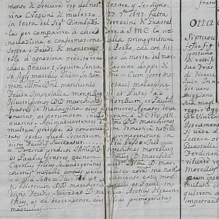 2 - Albero genealogico dal 1400 all'estinzione