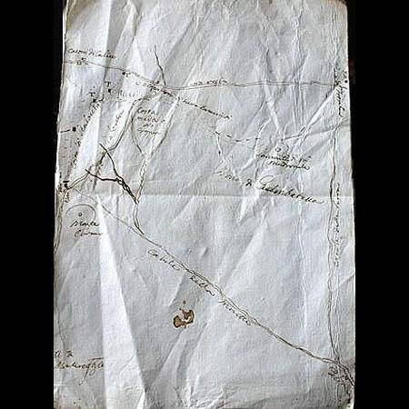 3 - Mappa per le dispute dei confini del bosco di Gambatacca