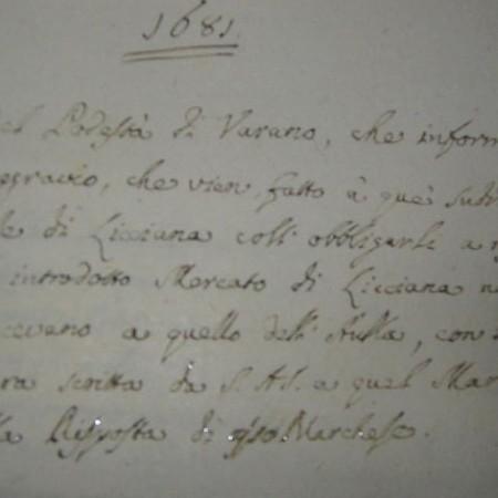 Lettera podestà Varano