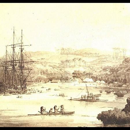 La baia e il porto di Acapulco visti dall'Ospedale dei Padri Ippoliti