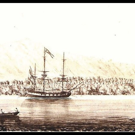 La città e l'ormeggio di Acapulco