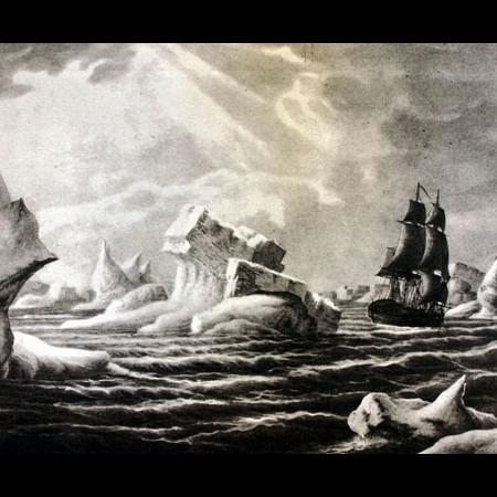 La corvetta Atrevida tra i ghiacci