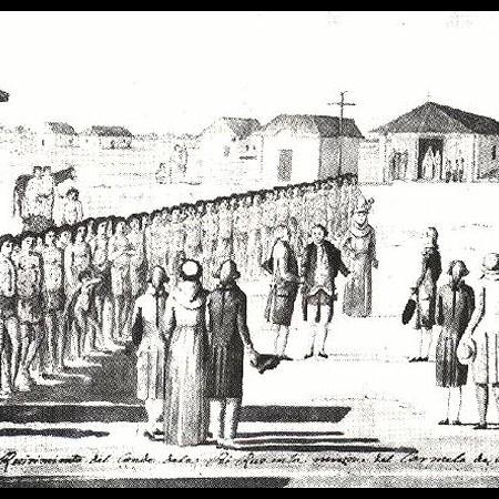 Ricevimento del conte di Lapérouse nella Missione del Carmelo