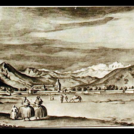Veduta del convento dei Carmelitani a Santiago