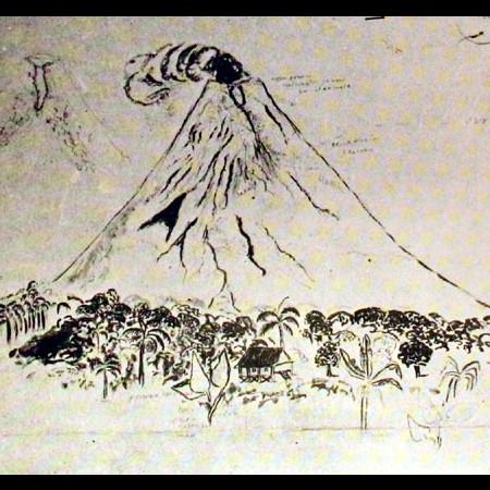 Veduta del vulcano di Albay